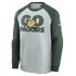 Nike Green Bay Packers Sweatshirt Go Helmet Historic Raglan silber/grün (1)