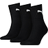 Puma Socken 3er Pack Mid Schwarz