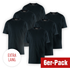 Cotton Butcher 6er Set T-Shirt Texas Rundhals Schwarz