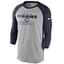 Nike Chicago Bears T-Shirt 3/4 Sleeve Wordmark Football grau/marine (1)
