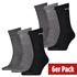 Puma Socken 6er Pack Lang SW/Grau/Anthrazit