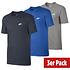 Nike T-Shirt CLUB Futura 3er Set Dunkelblau/Blau/Grau (1)
