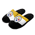 Forever Collectibles Pittsburgh Steelers Hausschuhe Colourblock schwarz/weiß/gold (1)