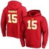 Fanatics Kansas City Chiefs Hoodie Iconic N&N Mahomes No 15 rot (1)