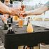 Siena Garden Biertisch / Bierlounge mit Deckel, für Bierkästen Schwarz (9)