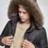 URBAN CLASSICS Winterjacke Faux Fur Hooded schwarz (9)