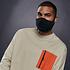 URBAN CLASSICS 4er Set Mund-Nase Maske Erwachsene Blanko schwarz (6)