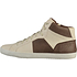 GEOX Sneaker High Nappaleder white/coffee (2)