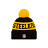 New Era Pittsburgh Steelers Beanie On Field Sport Knit schwarz (2)