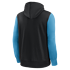 Nike Carolina Panthers Kapuzenjacke Therma Left Chest Mascot schwarz/tidal blue (2)