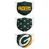 Forever Collectibles Green Bay Packers Mund-Nase Maske 3er Pack grün (2)