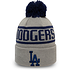 New Era Los Angeles Dodgers Beanie Bobble Knit grau/schwarz (2)