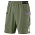 Puma Shorts NEXT Casuals mit T-Shirt Casuals FINAL 2er Set oliv/grau/weiß (2)