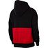 Nike Hoodie NIKE AIR Schwarz/Weiß/Rot (2)