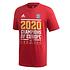 Adidas FC Bayern München T-Shirt CL Sieger 2020 Rot + Schal Champion Rot (2)
