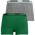 Puma Boxershorts 2er Pack Retropants Grau/Grün (2)