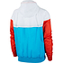 Nike Kapuzenjacke Windrunner Blau/Weiß/Orange (2)