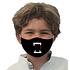 3er Set Mund-Nase Maske Kinder Buben Zähne Schwarz (2)