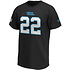 Fanatics Carolina Panthers T-Shirt Iconic N&N McCaffrey No 22 schwarz (2)