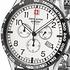 Swiss Alpine Military Herrenuhr Chronograph mit Milanaise-Armband Weiß/Silber (2)