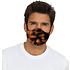 3er Set Mund-Nase Maske Erw. Orange/Schwarz (2)