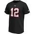 Fanatics Tampa Bay Buccaneers T-Shirt Iconic N&N Brady No 12 schwarz (2)