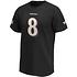 Fanatics Baltimore Ravens T-Shirt Iconic N&N Jackson No 8 schwarz (2)
