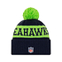 New Era Seattle Seahawks Beanie On Field Sport Knit blau (2)
