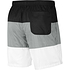 Nike Freizeit- und Badeshorts 3S Schwarz/Grau/Weiß (2)