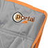 Portal Klappsessel Tom 44x45x44 cm grau/orange (2)