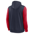 Nike New England Patriots Kapuzenjacke Therma Left Chest Mascot blau/rot (2)
