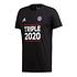 Adidas FC Bayern München T-Shirt Triple Sieger 2020 + Schal Triple Schwarz/Schwarz (2)