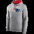 Fanatics New England Patriots Hoodie Overhead grau (2)