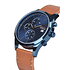 GOODYEAR Herrenuhr Chronograph Leder schlank Blau (2)