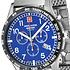 Swiss Alpine Military Herrenuhr Chronograph mit Milanaise-Armband Blau/Silber (2)