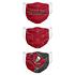 Forever Collectibles Tampa Bay Buccaneers Mund-Nase Maske 3er Pack rot (2)
