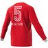 Adidas FC Bayern München Langarmshirt Retro Kaiser 5 Rot (2)