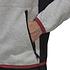 Adidas Fleecekapuzenjacke ZNE Grau/Rot (4)