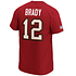 Fanatics Tampa Bay Buccaneers T-Shirt Iconic N&N Brady No 12 rot (3)