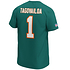 Fanatics Miami Dolphins T-Shirt Iconic N&N Tagovailoa No 1 aqua (3)
