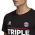 Adidas FC Bayern München T-Shirt Triple Sieger 2020 Kinder Schwarz (3)
