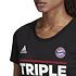 Adidas FC Bayern München T-Shirt Triple Sieger 2020 Damen Schwarz (3)