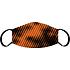 3er Set Mund-Nase Maske Erw. Orange/Schwarz (3)