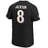 Fanatics Baltimore Ravens T-Shirt Iconic N&N Jackson No 8 schwarz (3)
