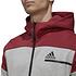 Adidas Fleecekapuzenjacke ZNE Grau/Rot (3)