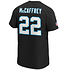 Fanatics Carolina Panthers T-Shirt Iconic N&N McCaffrey No 22 schwarz (3)
